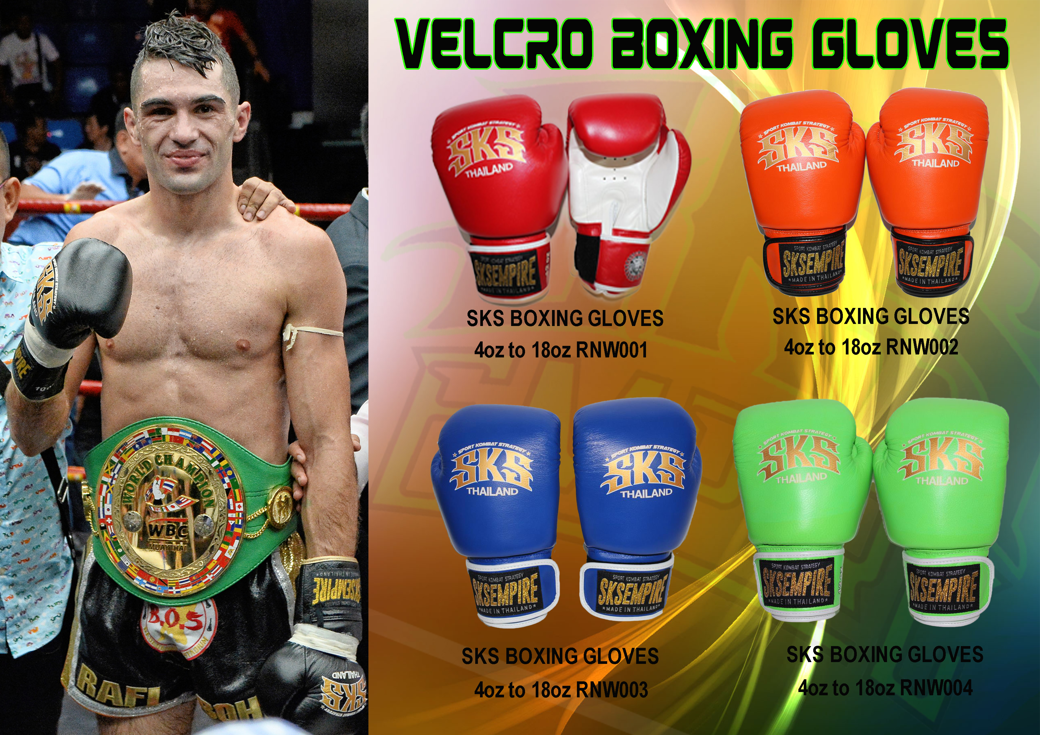 SKS VELCRO BOXING GLOVES